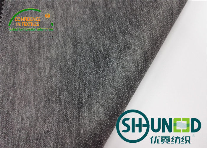 Enzyme Wash 80°C Fusible Interlining Fabric 50% Polyester 50% Nylon For Garment