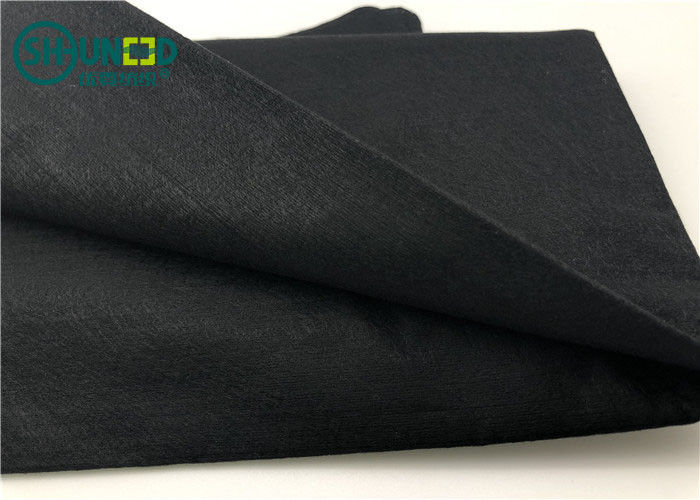 50% Viscose / 50% Polyester Spunlace Nonwoven Fabric Anti Bacteria For Wet Tissue Black Color